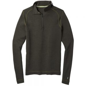 Smartwool Men's Merino 250 Baselayer 1/4 Zip, Olive Heather