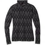 Smartwool Women's Merino 250 Baselayer Pattern 1/4 Zip, Black Charcoal Heather