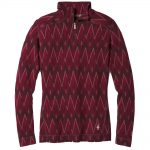 Smartwool Women's Merino 250 Baselayer Pattern 1/4 Zip, Tibetan Red