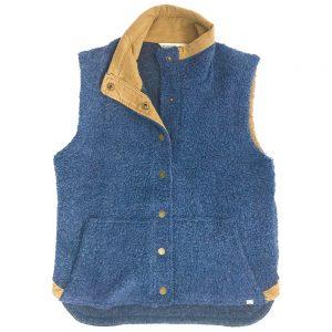 Toad & Co. Women's Sheridan Sherpa Vest, Nightsky Heather