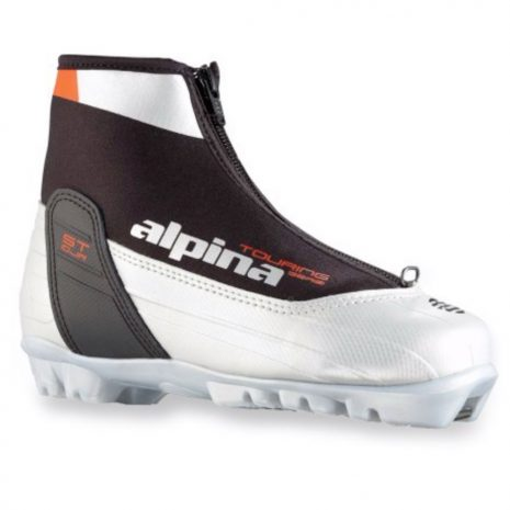 Alpina Kids' ST 10 Jr. Touring Boots, Black Silver Red