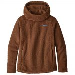 Patagonia Women's Diamond Capra Fleece Hoody, Moccasin Brown