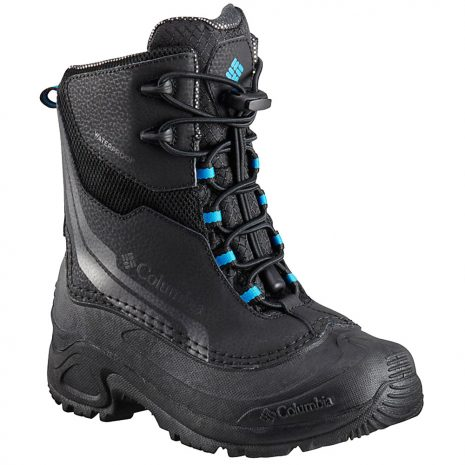 Columbia Kids' Bugaboot Plus IV Omni-Heat Insulated Boots, Black Hyper Blue