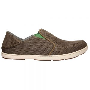 Olukai Men's Nohea Mesh Slip-On Shoes, Mustang Lime Peel