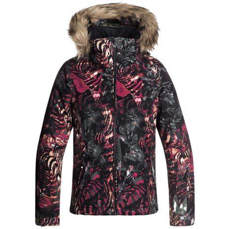 Roxy Girls' American Pie Insulated Jacket, Four Leaf Clover Zebratree