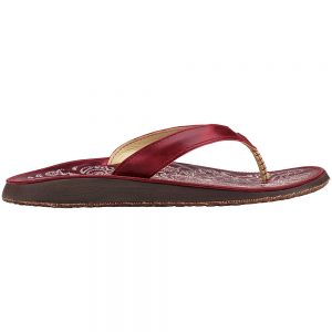 Olukai Women's Paniolo Flips, Deep Red