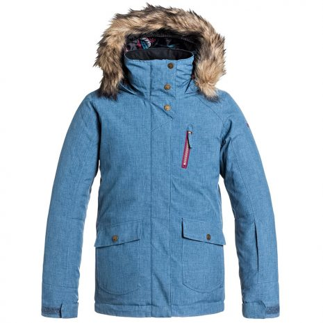 Roxy Girls' Tribe Insulated Jacket, Ensign Blue