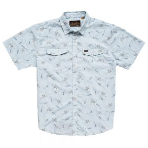 Howler Bros. Men's H Bar B Snapshirt, Grainfields Print Shower Blue