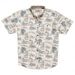 Howler Bros. Men's Mansfield Shirt, Outpost Plaid Vintage White
