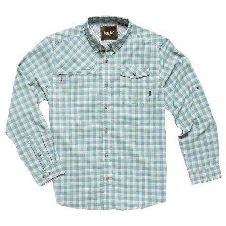 Howler Bros. Men's Matagorda Shirt, Peninsula Plaid Seaspray