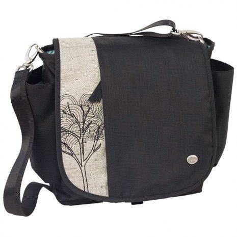 Haiku Bags Women's To-Go Convertible Messenger Bag, Black Morel