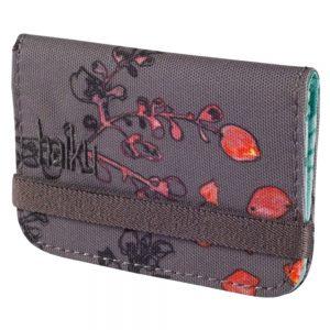Haiku Bags Women's RFID Mini Wallet, Gray Wisteria Print