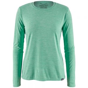 Patagonia Women's Long-Sleeved Capilene Cool Daily Crew, Vjosa Green X-Dye