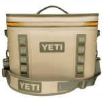 Yeti Hopper Flip 18 Soft Cooler, Field Tan Blaze Orange
