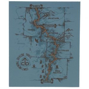 Seek Dry Goods CDT Trail Map Sticker