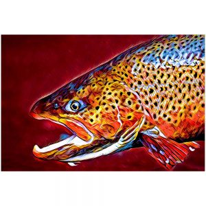 Artist Series Brown Trout Sticker