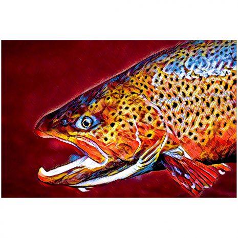 Artist Series Brown Trout Sticker