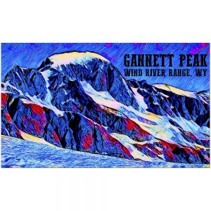 Artist Series Gannett Peak Sticker