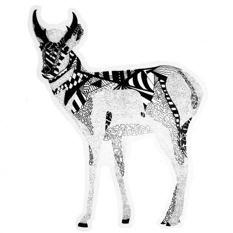 Pletcher Designs Antelope Sticker