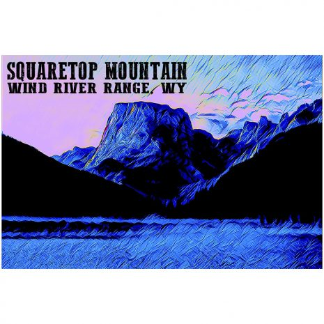 Artist Series Squaretop Mountain Sticker