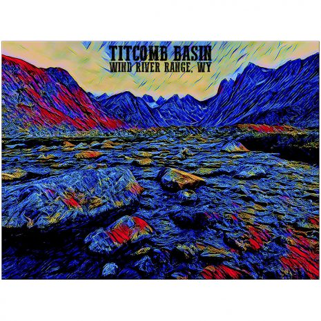 Artist Series Titcomb Basin 2 Sticker