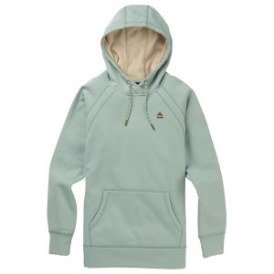 Burton Women's Crown Bonded Fleece Pullover Hoody, Aqua Gray