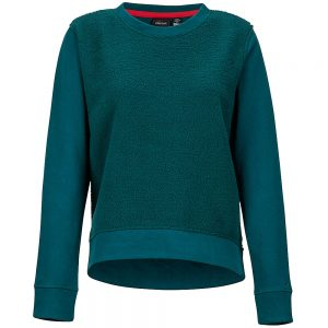 Marmot Women's Crew Neck Sherpa Sweatshirt, Deep Teal