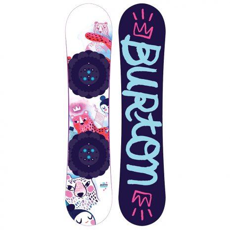 BURTON Girl's Chicklet Flat Top Snowboard - 2021