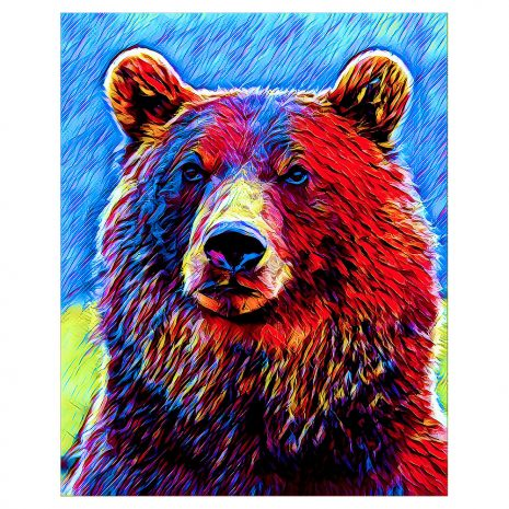 Artist Series Grizzly Bear Sticker
