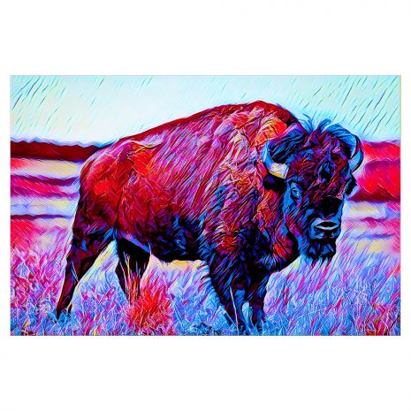 Artist Series Bison Sticker