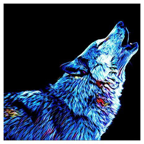 Artist Series Wolf Sticker
