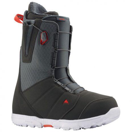 Burton Men's Moto Snowboarding Boots, Gray Red