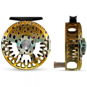 abel vaya fly reel, native brown