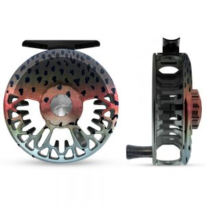 Abel vaya fly reel, rainbow