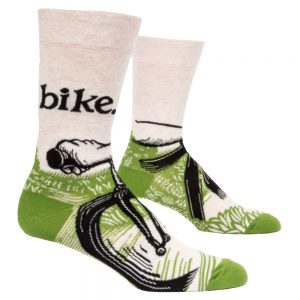 Blue Q Men's Bike Path Crew Socks