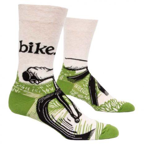 Blue Q Men's Bike Path Crew Socks