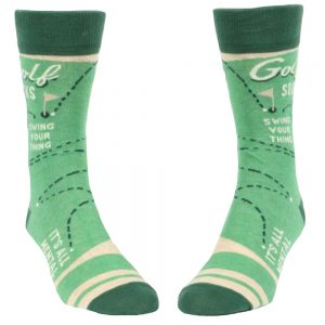 Blue Q Men's Golf Crew Socks