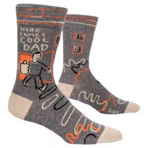 Blue Q Men's Here Comes Cool Dad Crew Socks