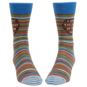 Blue Q Men's I Left the Seat Up for You Crew Socks