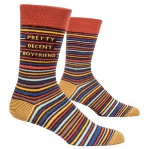 BLUE Q Men's Pretty Decent Boyfriend Crew Socks