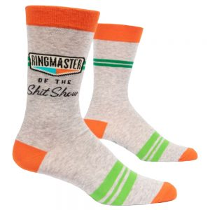 BLUE Q Men's Ringmaster of the Shit Show Crew Socks