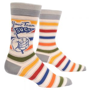 BLUE Q Men's Your Team Sucks Crew Socks