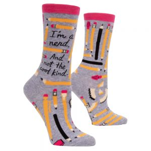 BLUE Q Women's I'm a Nerd. And Not the Cool Kind Crew Socks