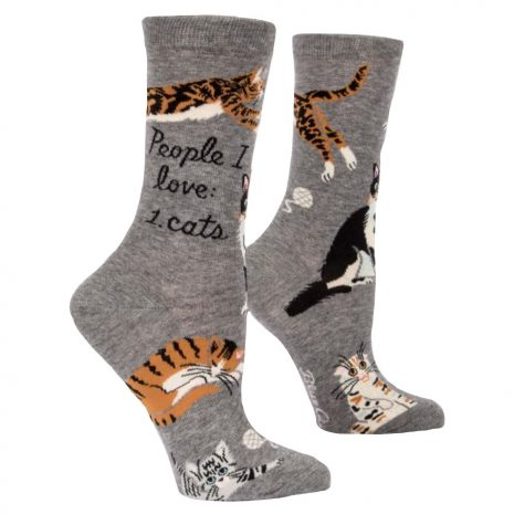 BLUE Q Women's People I Love: Cats Crew Socks