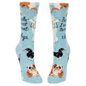 BLUE Q Women's People I Want to Meet: Dogs Crew Socks