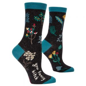 BLUE Q Women's You Fancy Bitch Crew Socks
