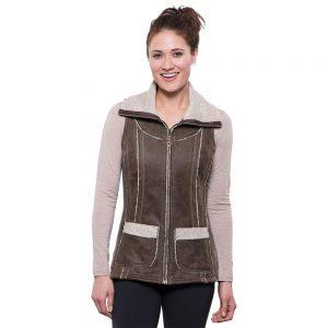 KUHL Women's Dani Sherpa Vest, Oak