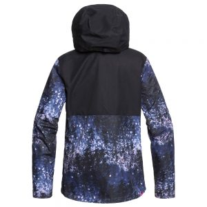 ROXY Women's Jetty 3-in-1 Insulated Jacket, Medieval Blue Sparkles