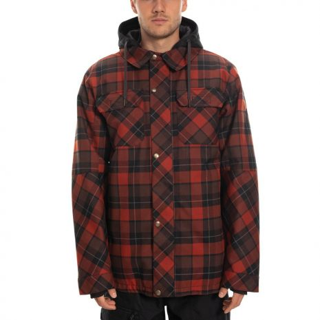 686 Men's Authentic Woodland Insulated Jacket, Rusty Red Plaid