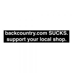 Backcountry.com Sucks Sticker
